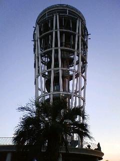 『ライトアップ前の江の島展望灯台』